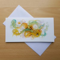 Octopus Greetings Card by Alanda Calmus