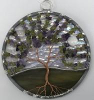 Tree of Life Sun Catcher -  Amethyst & Peridot