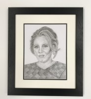 Graphite drawing of Adele