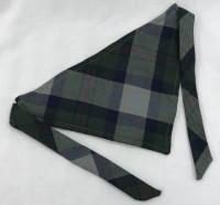 Dog Bandana -  Green Tartan with ties, 18 cm x 29 cm
