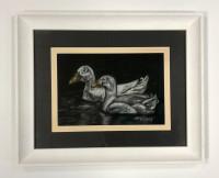 Pastel painting of ducks