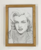 Graphite drawing of Marilyn Monroe