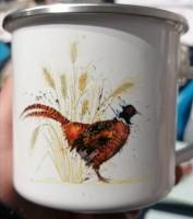 Enamel Mugs. The Pheasant