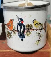 Enamel Mug. Birds of the Forest