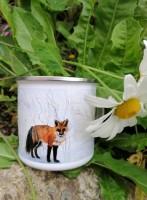 Enamel Mug. The Fox