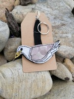 Handmade Felted Herring Gull Keyring