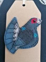 Handmade Felted Capercaillie Keyring