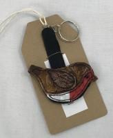 Handmade Felted Robin Keyring