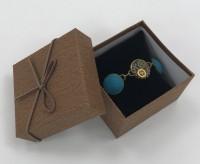 Blue clay steampunk bracelet.