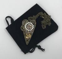 Steampunk mixed metal pendant.
