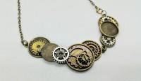 Yoke steampunk pendant.