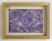 Encaustic Art Picture in Wood Frame