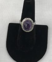 Amethyst Oval Stone Ring