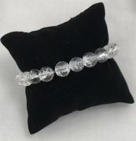 White Phantom Clear Crystal Stone Bracelet