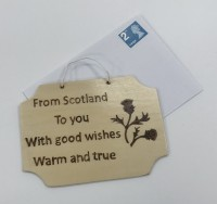 Card wall hanger -  From Scotland to you
