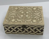 Large oblong box - Moon and stars