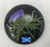 Art stone - Thistle design with display stand