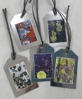 Lichen Gift Tags -  Silver Background
