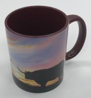 Moonlight Muse Highland Cows mug.