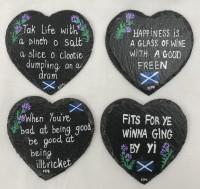 Heart shaped coasters - Scottish flag