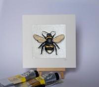 Mini Mounted Giclée Print - Bee