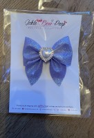 Lilac Glitter Pinch Bow and Gem