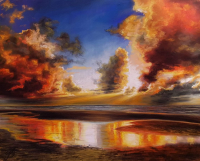 Dramatic Sunset 20x24in Signed Mounted Print by Alanda Calmus