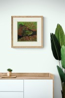 The Frog Prince Original Mounted Oil and Acrylic Painting by Alanda Calmus