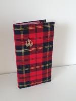 Address book- red/yellow tartan