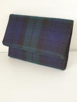 Small purse - green/navy tartan