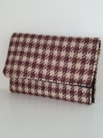 Small purse - brown houndstooth