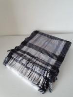Fleece scarf - slim - grey tartan