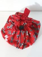 Drawstring Makeup bag - red scotties