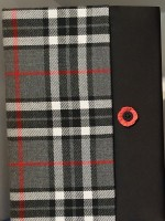 A5 notebook - blk/wht/red + poppy
