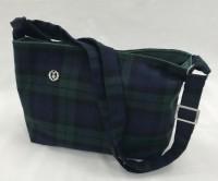 Crossbody bag - green/navy tartan