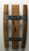 Whisky Barrel Staves wall clock