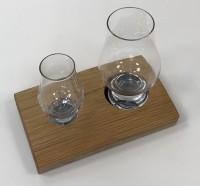 Glass holder with two Glencairn glasses