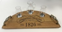 Whisky Serving tray with glasses
