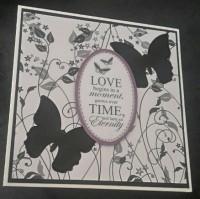 Love Begins Greetings Card