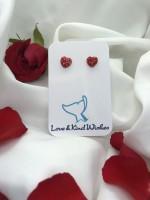 Murano style glass hearts