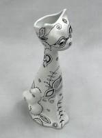 Cat (candle / flower holder)