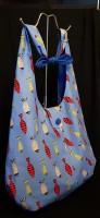 Blue fish boho bag