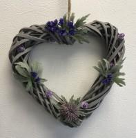 Thistle heart shaped wreath